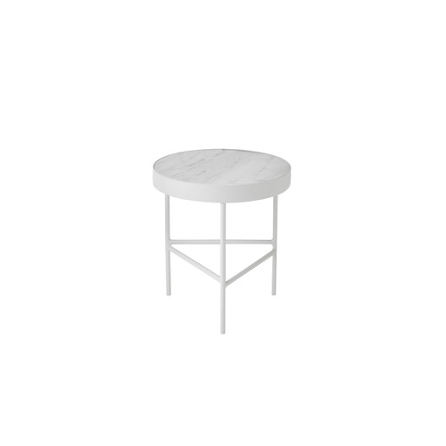carerra marble side tables white ferm