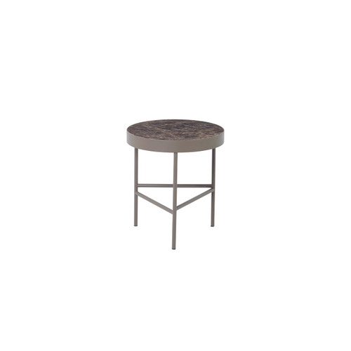 emperador marble side tables brown ferm