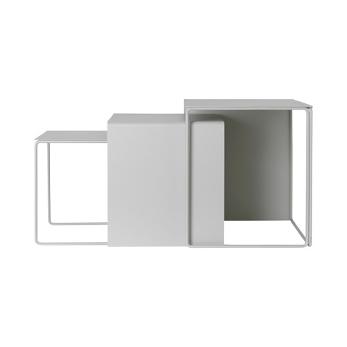 small thin side tables grey ferm