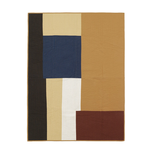 ferm living patchwork quilts shay mustard