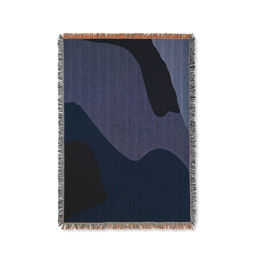 ferm living vista throws darkblue