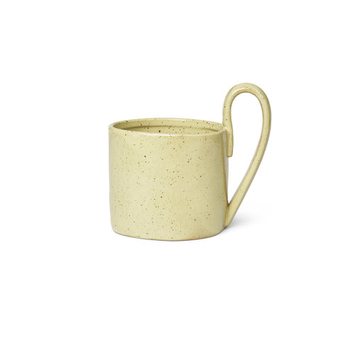 porcelain mugs yellow speckle color