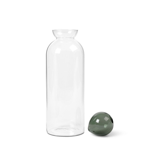 clear glass pourer with ball stopper ferm