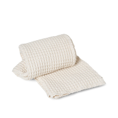 ferm living organic cotton bath towel white