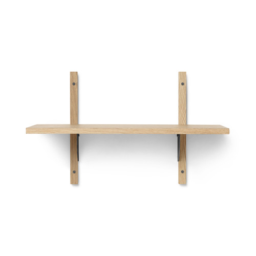 sector shelves single narro natural oak ferm living