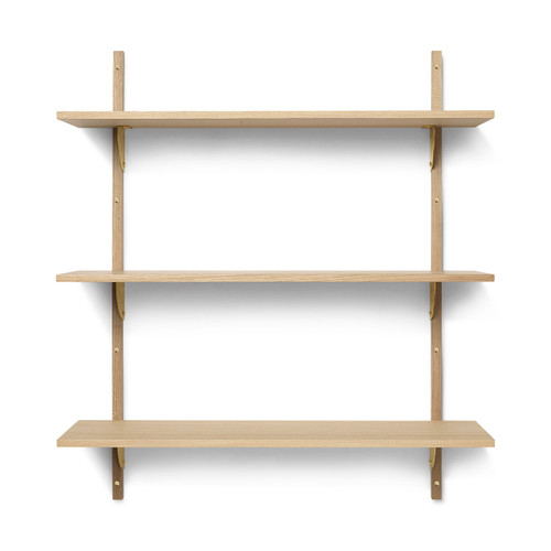 shelves triple wide oak sector ferm