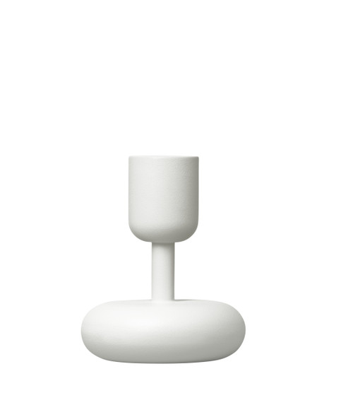 steel candlesticks white small nappula iittala