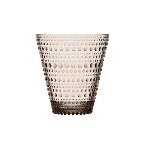 linen colored glasses with little dots ittala