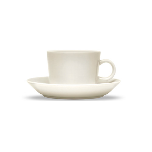 iittala coffee cups saucers white teema