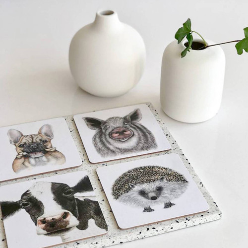 animal coasters charlotte nikolin