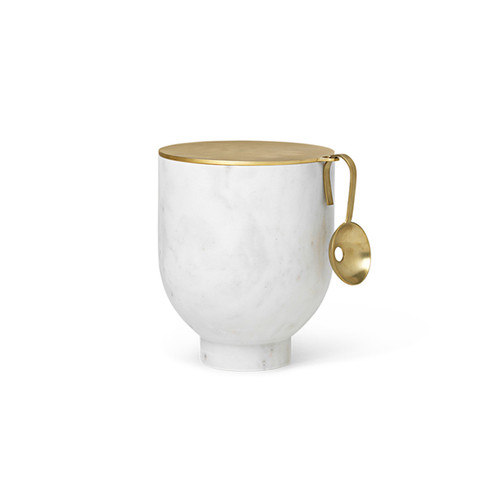 ice buckets made of marble with brass spoons alza