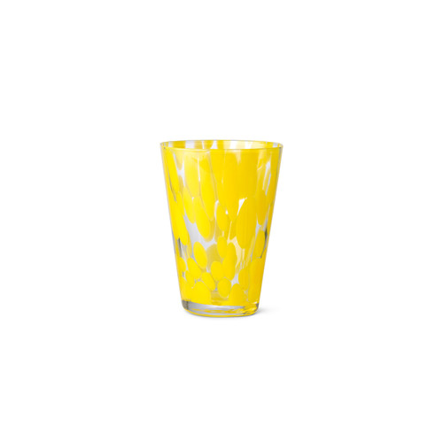 yellow mouth blown glasses casca
