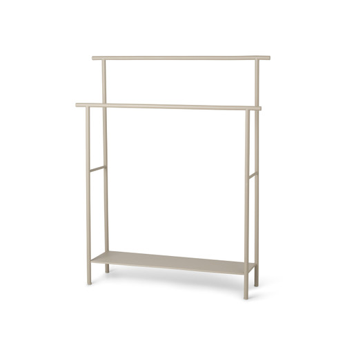 cashmere colored bathroom towels stands steel