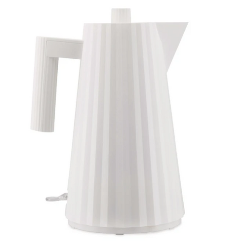 white pleated electric kettle