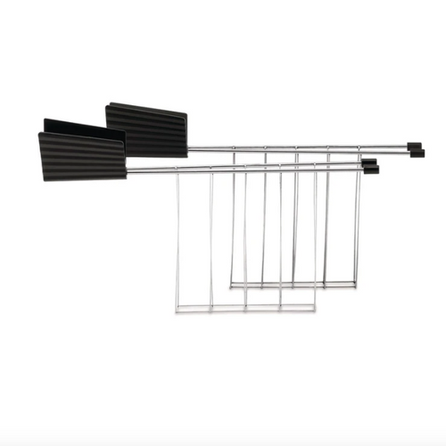 black thermoplastic resin and stainless steel toaster rack