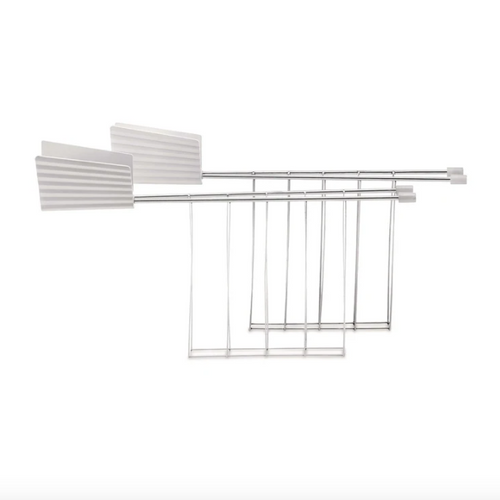 toaster rack white pleated collection
