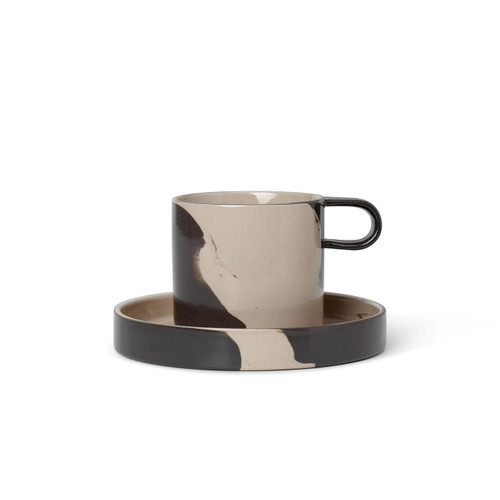handmade mugs with handle and saucer side plate ferm