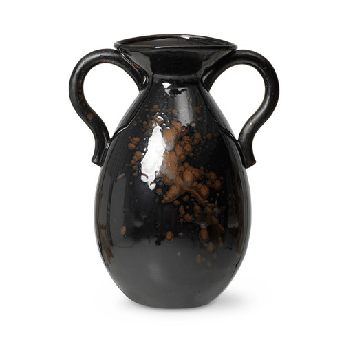 versa vases with handles extra large for floor brown black