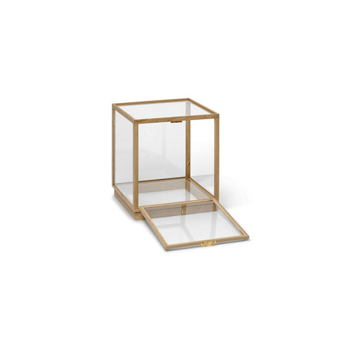 oak glass display cabinets square stackable with door