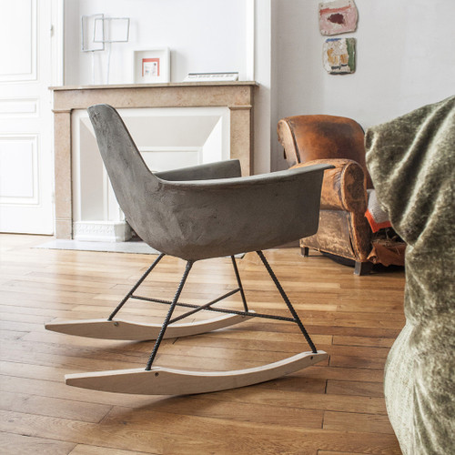 Rocking Chair having iconic mid-century design with a modern twist, ergonomic and comfortable seat