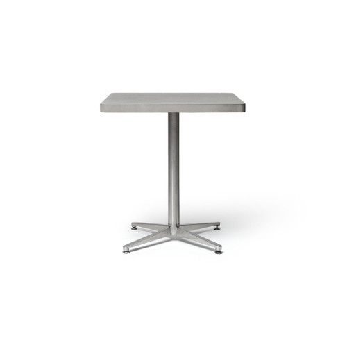 concrete table top and metal base