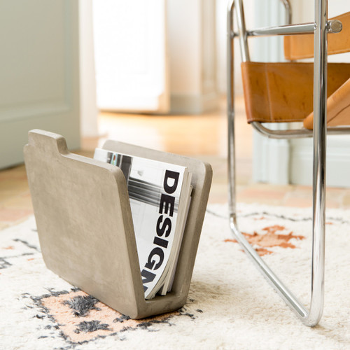 The Concrete Magazine Rack
