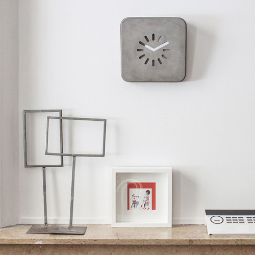Concrete wall or stand clock