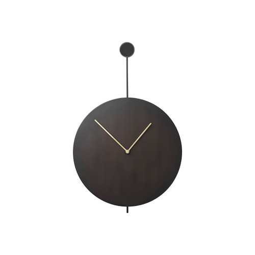 cool wall clocks in black steel