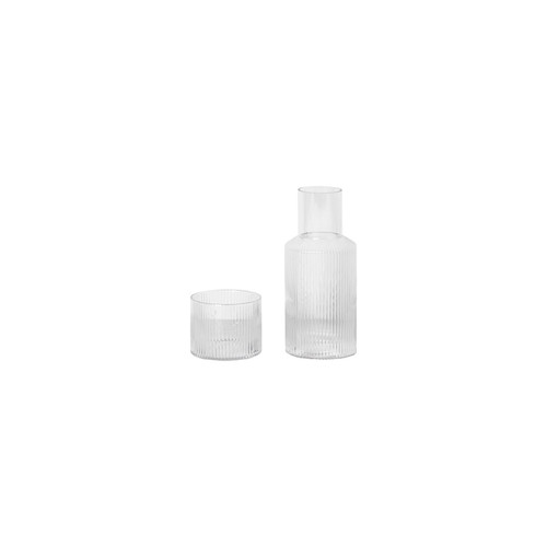 ferm ripple carafe set clear