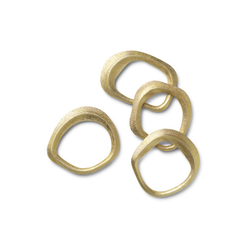 ferm flow napkin rings brass