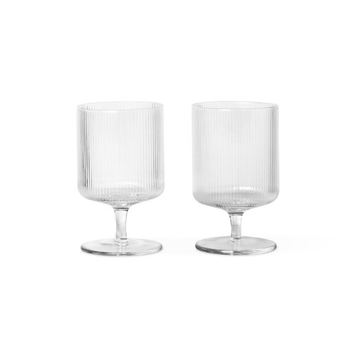 ripple wine glasses clear ferm living