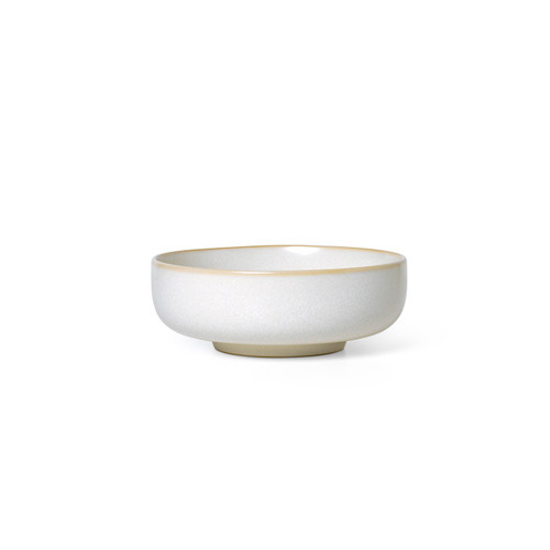 sekki bowls medium white glazed stoneware