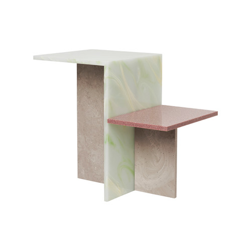 distinct side tables multi color ferm
