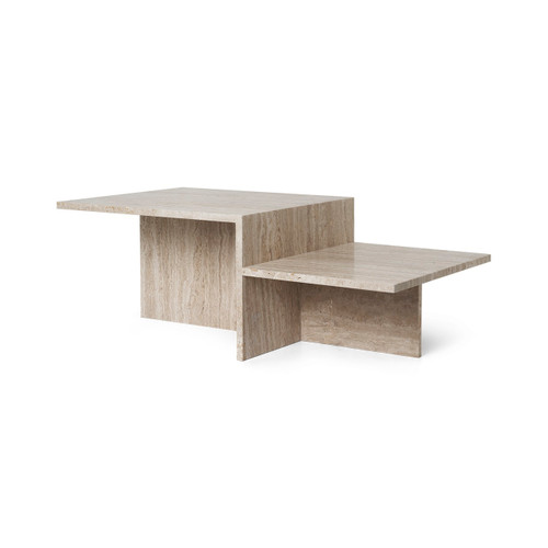 travertine coffee tables distinct ferm living