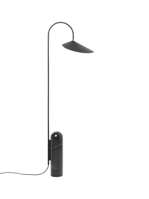 ferm living floor lamp black marble