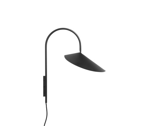 ferm living arum wall light black