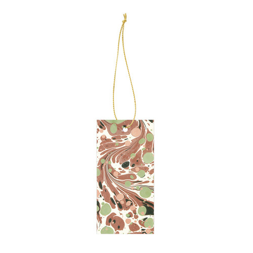 ferm living marbling gift tags brown green