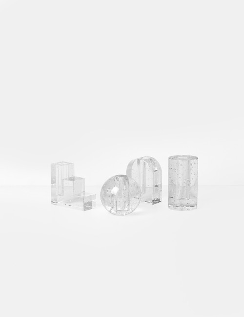 ferm living bubble glass object candleholders small vases