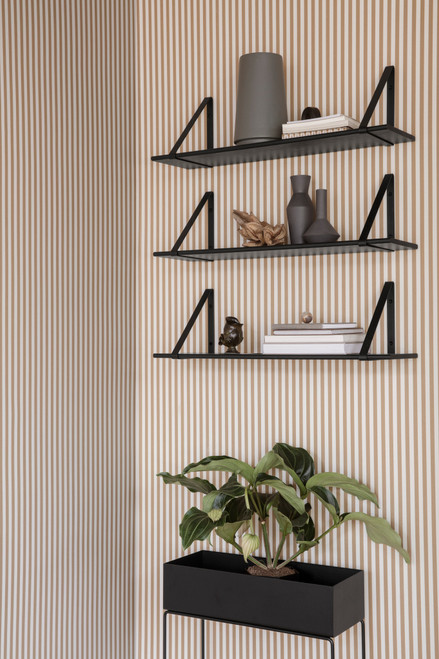 ferm living wall shelves black brackets black boards