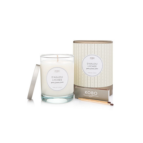 Lychee soy candle