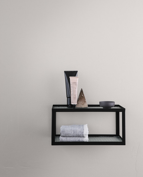 ferm living wire glass double shelves for bathroom