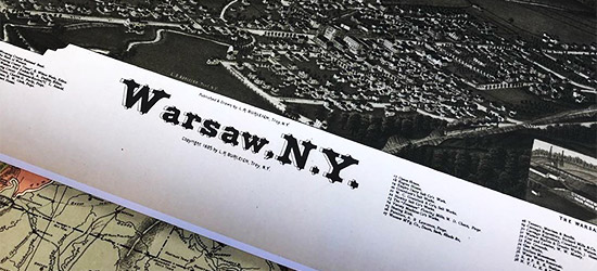 Archive Paper Map Print