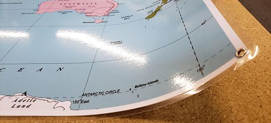 Laminated Paper Map Print
