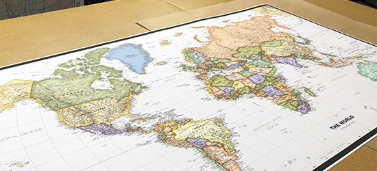 Premium Paper Map Print