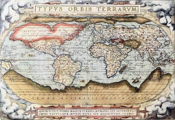 Ortelius World Map, 1570
