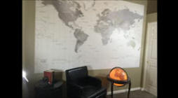 Map Mural Install complete