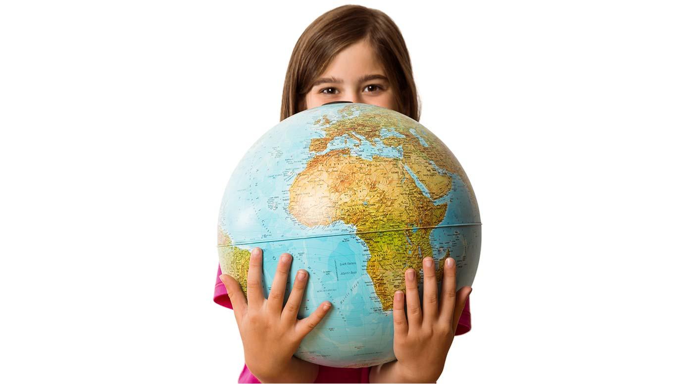 Girl Holding World