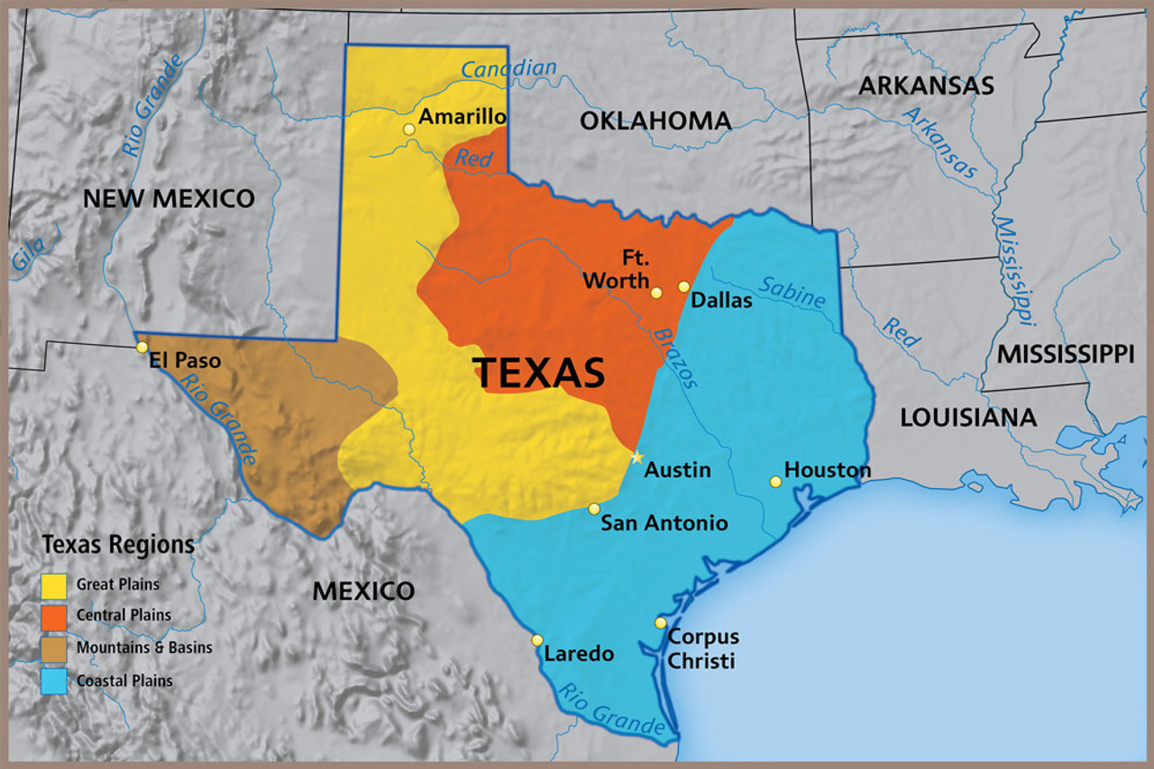 Regions Of Texas Map Texas Map Rugs | World Maps Online