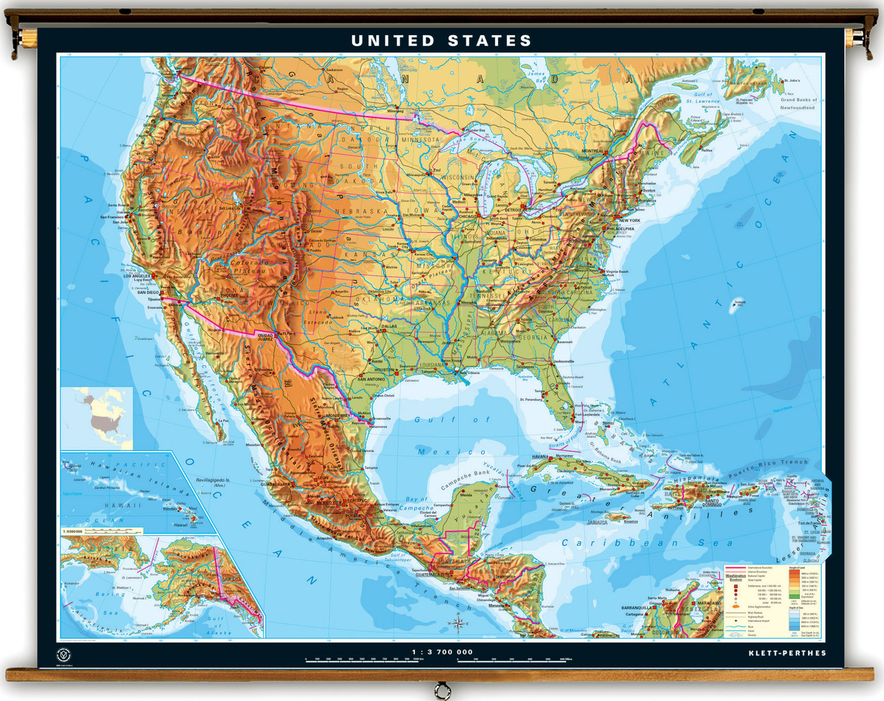 Extra Large United States Physical Map World Maps Online