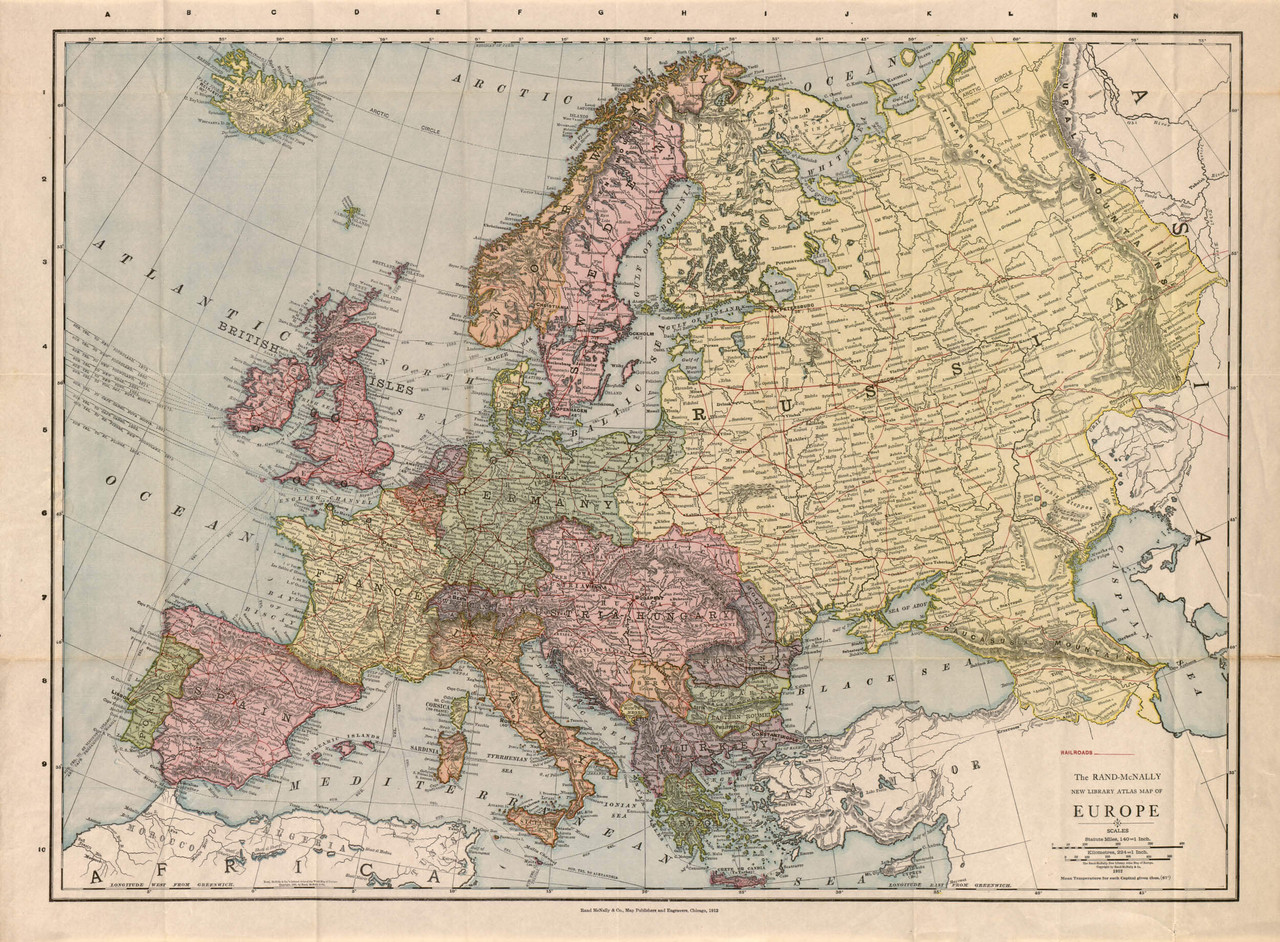 map of europe 1912 Historical Map of Europe   1912